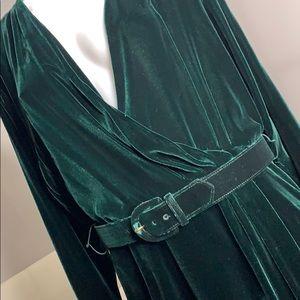 Ralph Lauren Emerald Green Vintage Velvet Dress